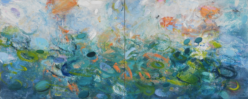 Kathy Soles  Paintings oil on canvas mounted on board. diptych