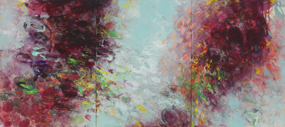 Kathy Soles  Paintings oil on canvas mounted on board. triptych