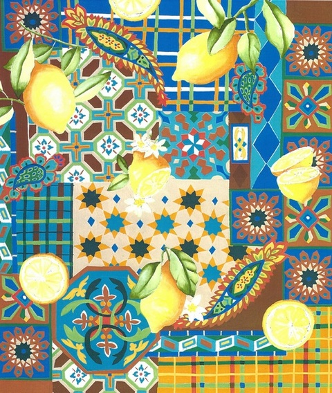 Surface & Textile Design lemons & tiles