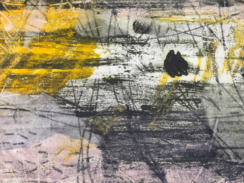 Prints Monotype with chine colle