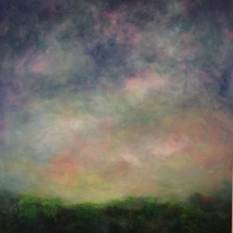 Katie Todd Large Abstract Landscapes Acrylic on Canvas