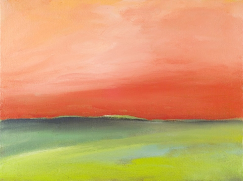 Katie Todd Small Abstract Landscapes Acrilyc on Canvas Panel