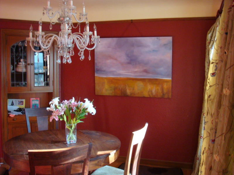 Paintings in Their Homes This was my very first big landscape that sold. Thanks Chrsitine!