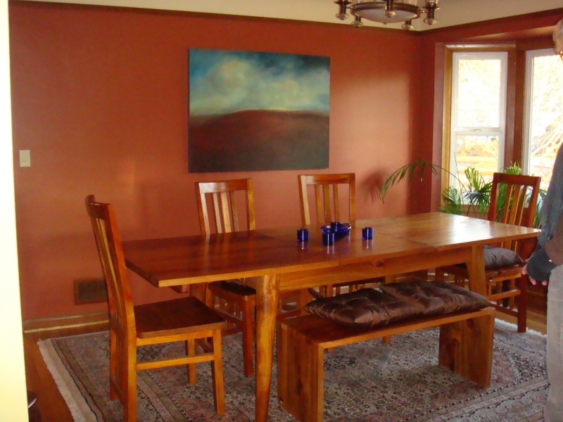 Paintings in Their Homes Cathryn and George's dining room.