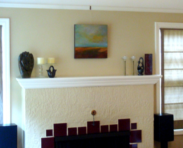 Paintings in Their Homes Maggie's mantel