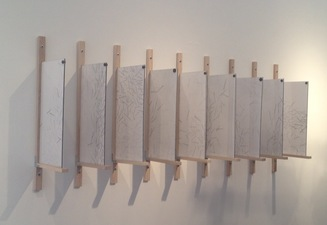 Katlin Evans Sculptures   graphite on dura-lar with wood and plexiglass