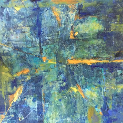Kathy Burdon abstract series Oil, Paper and Cold wax