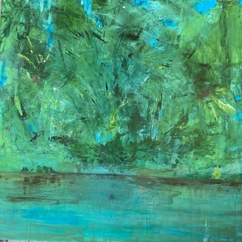 Kathy Cotter TROPICS OIL on BOARD