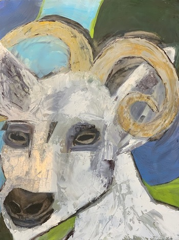 Kathy Cotter GOATS OILonBoard