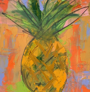 Kathy Cotter PALM BEACH ART SHOW Oil on Board