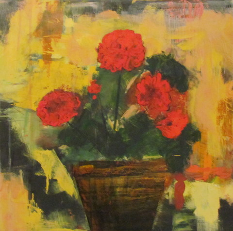 Kathy Cotter GARDEN Oil on Board