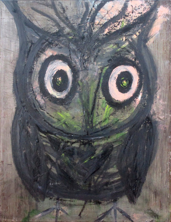 Kathy Cotter OWLS oil &wax on board