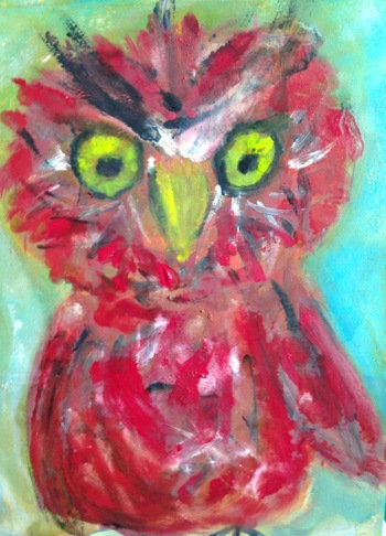 Kathy Cotter OWLS oil and wax