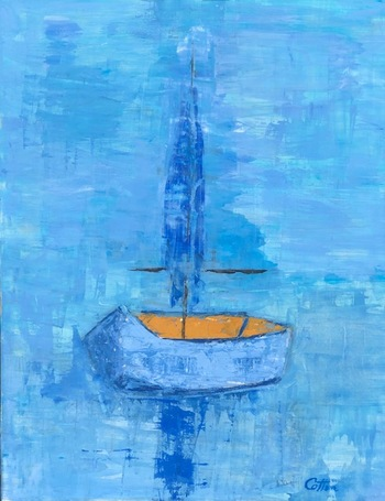 Kathy Cotter LIGHTHOUSES and BOATS oil on board
