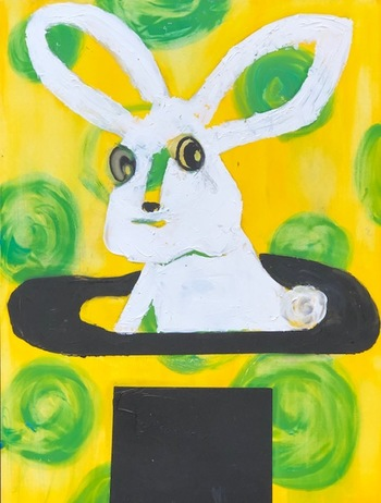 Kathy Cotter RABBITS OILon Board