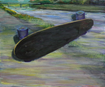 Keisuke Eguchi Painting Skateboard series acrylic on canvas