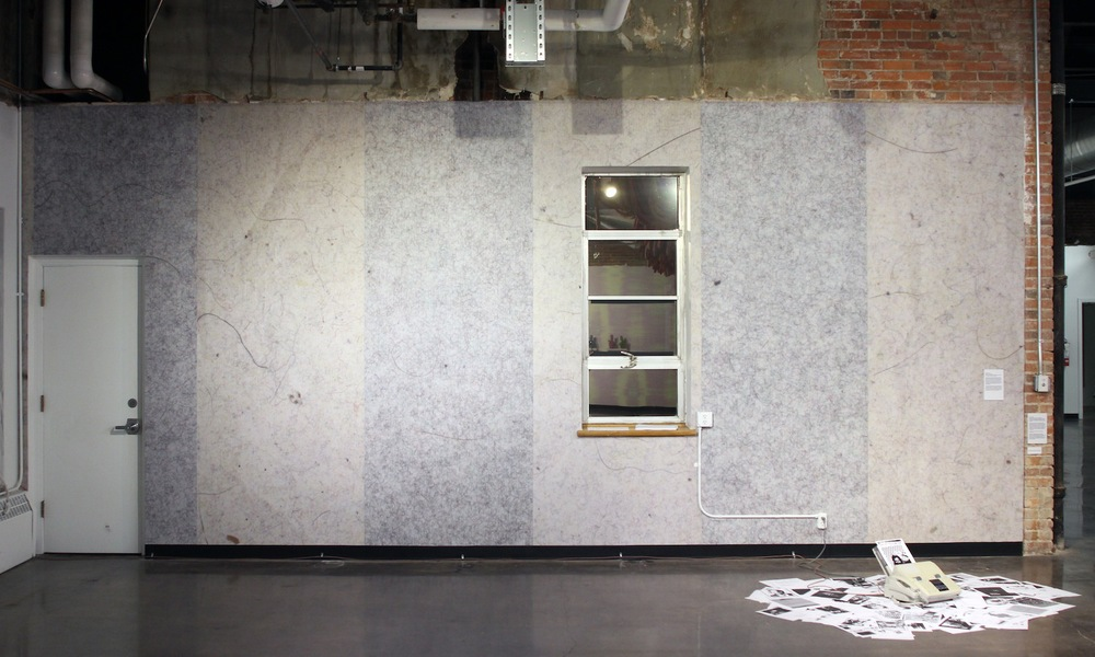 Kelcy Chase Folsom Archive hi-resolution scan of lint roller sheets printed on wallpaper