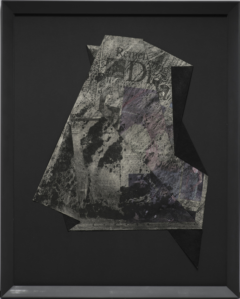 Kelcy Chase Folsom Archive UK newspaper the day after Princess Diana's death, charcoal, black diamond