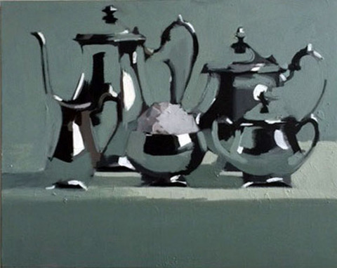 Tea Set Oil on canvas