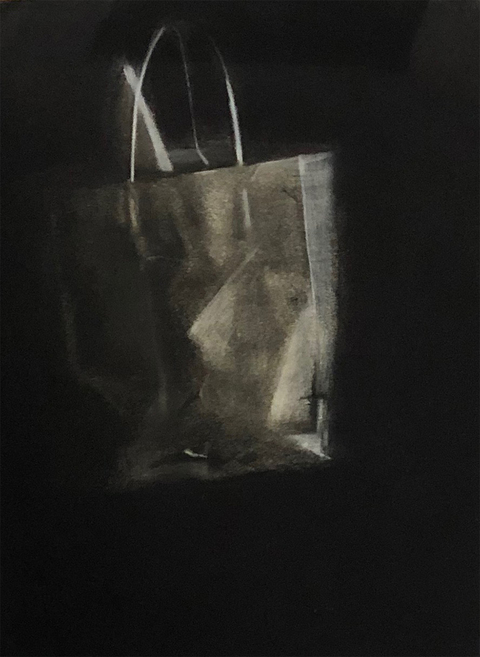 Kelley Harwood Work Charcoal, chalk on paper