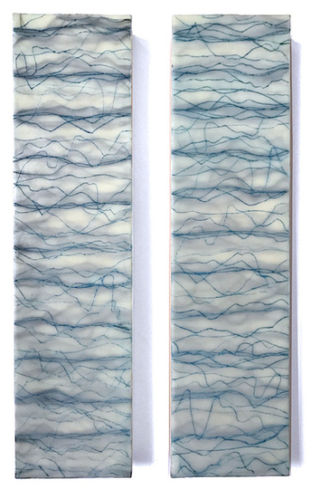 <i>fluidus</i> wax, pigment, oil on birch panels
