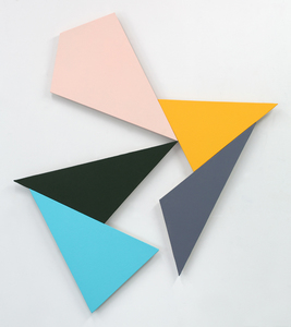 Ken Greenleaf Shaped Color Paintings Acrylic on canvas on shaped support