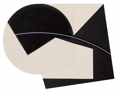 Ken Greenleaf Black Paintings Acrylic on canvas on shaped support