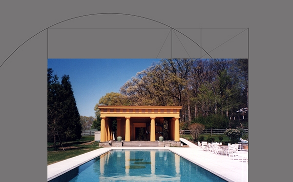 "KENNETH HEWES BARRICKLO, architect, p.c. The Sosnoff Estate  A classical ""Folly"" Pool House, Red Hook, New York"