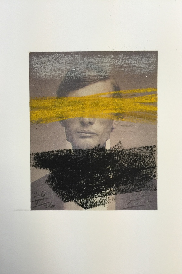Kenneth Jaworski The Prophet Series Charcoal, Siberian chalk, pastel and printed photograph on paper