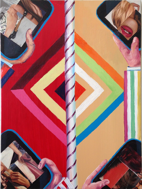 Smart Phone Collages Collage, acrylic on canvas