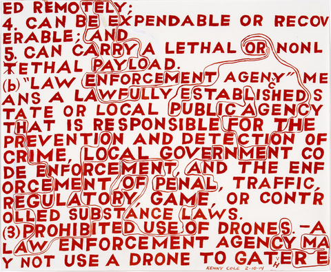 Drone Legislation Gouache on paper