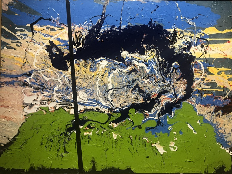 Ken Rush Poured Landscapes 2013-14 Acrylic Enamel on Canvas