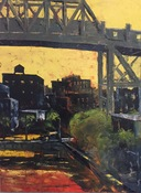 Ken Rush Gowanus Area 1974-2018 Oil on canvas