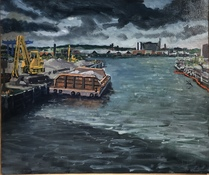 Ken Rush Gowanus Area 1974-2018 Oil on linen