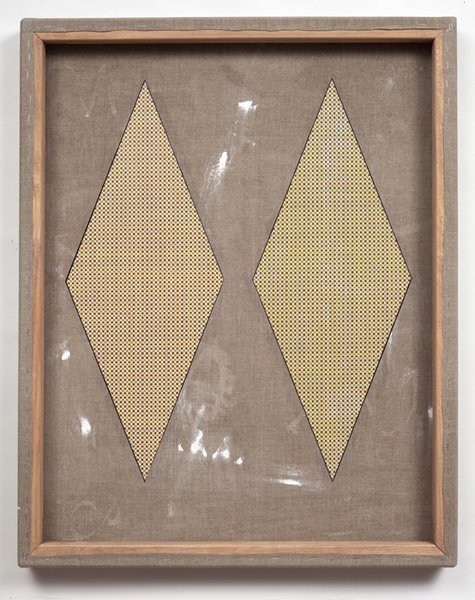 Ken Weathersby The Path of the Needle acrylic & graphite on linen, reversed, with unreversed areas