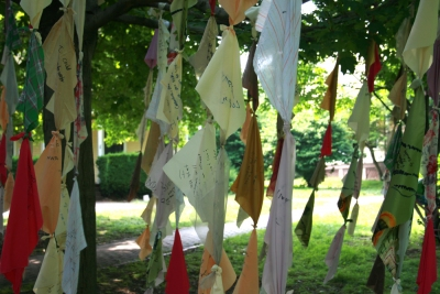 Ketta Ioannidou The Wishing Tree Installation detail, FIGMENT NYC,