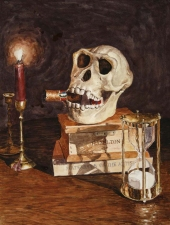 Kevin Klein Memento Mori watercolor
