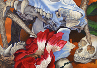 Kevin Klein Memento Mori acrylic on canvas