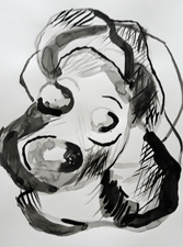 Kimberly DiNatale Drawings 1 ink on paper