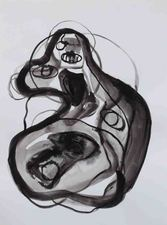 Kimberly DiNatale Paintings and Drawings ink on paper