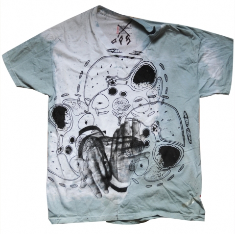 Kimberly Reinhardt T-Shirts double-sided, 1 color silkscreen on hand-dyed cotton tee