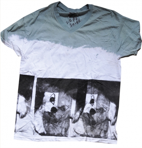 Kimberly Reinhardt T-Shirts double-sided, 1 color silkscreen on hand-dyed cotton