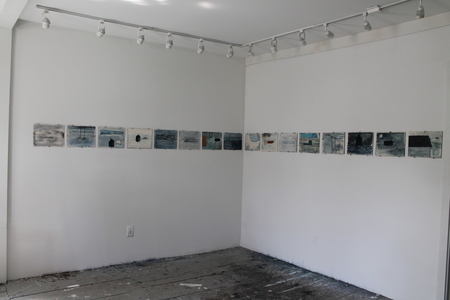 Kitty Winslow 2011 PEREGRINATION  INSTALLATION  watercolor on aqua board