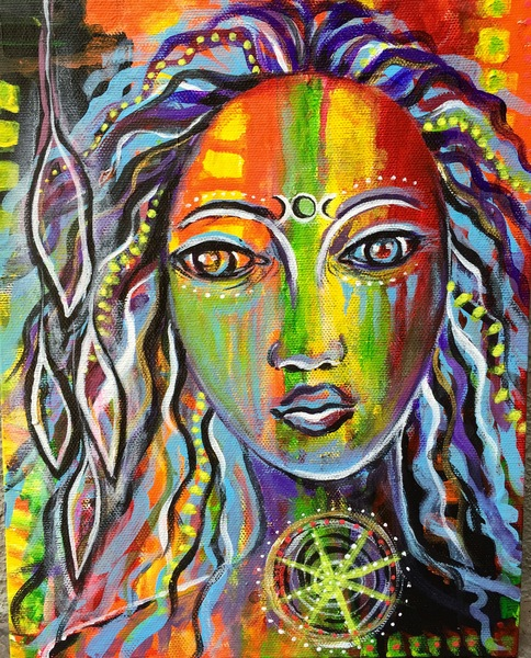 Paintings Triple Goddess
