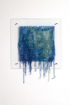 Kristin Nelson My Life with Pamela Anderson wool, plexi