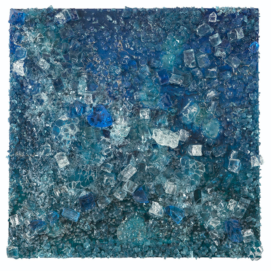 Kristin Schattenfield-Rein Recent Work Glass, Resin, Interference & Acrylic Ink on Birch Panel