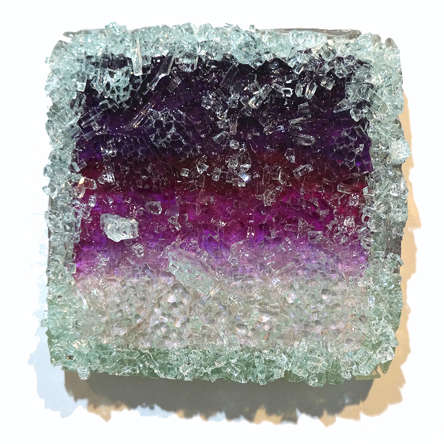 Kristin Schattenfield-Rein Recent Work Glass, Resin & Acrylic Ink on Birch Panel