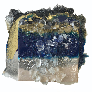 Kristin Schattenfield-Rein The Liminal Gates Glass, Resin, Silver Dust, Interference, Gold Dust & Acrylic Ink on Birch Panel