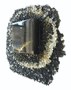 Kristin Schattenfield-Rein The Liminal Gates Glass, Sand, Resin, Gold Dust & Acrylic Ink on Birch Panel