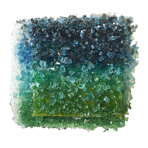 Kristin Schattenfield-Rein The Liminal Gates Glass, Resin & Acrylic Ink on Birch Panel